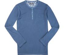 Herren Pullover Leinen-Baumwolle jeans