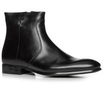 Herren Schuhe Stiefeletten Kalbleder schwarz schwarz,beige