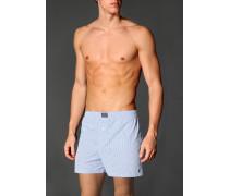 Herren Unterwäsche Boxershorts, Baumwolle, hellblau-weiß, kariert