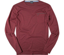 Herren T-Shirt Longsleeve Baumwoll-Trikot bordeaux