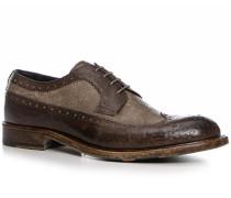 Herren Schuhe Budapester Kalbleder geprägt testa di moro-fango beige,braun,rot