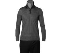 Herren Polo-Shirt Baumwoll-Piqué schwarz-grau kariert