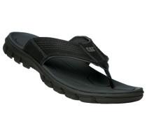 Herren Schuhe Zehensandalen, Leder, schwarz