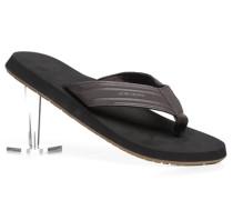 Herren Schuhe Zehensandalen Kunststoff dunkel