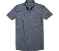 Herren Hemd, Regular Fit, Baumwolle, denim blau