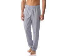 Herren Pyjamahose, Baumwolle, nachtblau-weiß gestreift