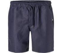 Hose Shorts Leinen navy