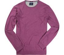 Herren Pullover Seide-Baumwolle flieder meliert violett