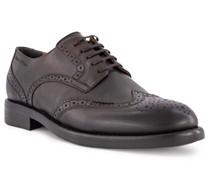Schuhe Budapester Leder dunkel