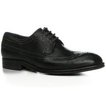 Herren Schuhe Budapester Rindleder genarbt nero schwarz,beige,schwarz