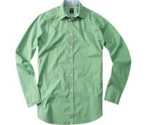 Herren Hemd Cisammy Baumwolle grün