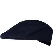 Herren Schirmmütze Baumwolle dunkelblau