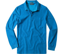 Herren Polo-Shirt Baumwoll-Piqué azurblau