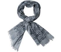 Herren Cerruti1881 Schal Baumwolle grau gemustert
