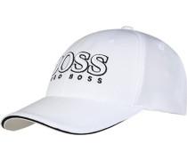 Herren Cap Microfaser weiß