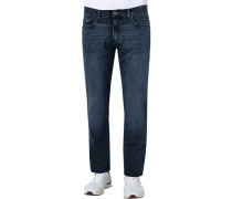 Jeans Straight Fit Baumwoll-Stretch