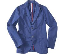 Herren Sakko Baumwolle blau