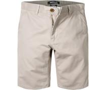 Herren Hose Shorts Straight Fit Baumwolle sand beige