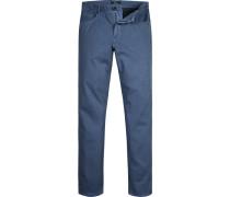 Jeans Classic Fit Baumwoll-Stretch marine