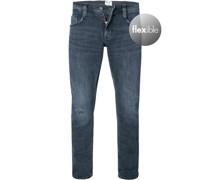 Jeans Oregon Slim Fit Baumwoll-Stretch dunkel