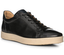 Schuhe Sneaker, Leder, nero