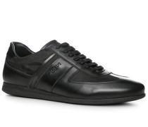 Herren Schuhe Sneaker Leder-Textil schwarz