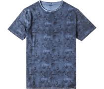 Herren T-Shirt, Baumwolle, nachtblau
