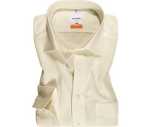 Herren Hemd Modern Fit Popeline Extra langer Arm creme beige