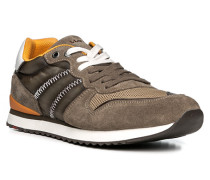 Herren Schuhe EASTMAN Textil-Kalbveloursleder grau