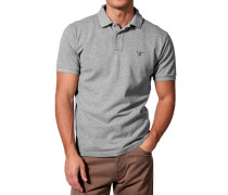 Herren Polo-Shirt Regular Fit Baumwoll-Piqué meliert