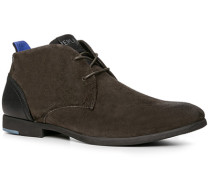 Herren Schuhe Desert Boots Veloursleder dunkelbraun braun,blau,schwarz