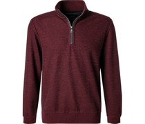 Pullover Troyer Baumwolle dunkel meliert