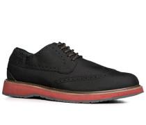 Herren Schuhe Brogues Microfaser schwarz