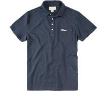 Herren Polo-Shirt Baumwolle dunkel