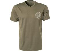 T-Shirt, Mikrofaser, oliv