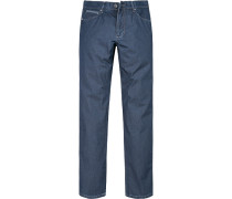 Herren Jeans, Modern Fit, Baumwoll-Stretch, denim blau