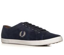 Herren Schuhe Sneaker Veloursleder kobaltblau blau,braun,grau