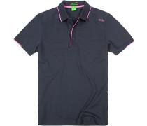Herren Polo-Shirt Slim Fit Baumwoll-Piqué dunkelblau