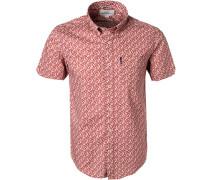 Kurzarmhemd Regular Fit Popeline  gemustert