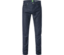 Herren Jeans, Slim Fit, Baumwolle, dunkelblau