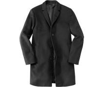 Herren Mantel Wolle schwarz schwarz,schwarz