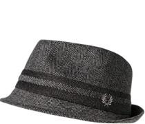 Herren Hut, Wolle, grau gemustert