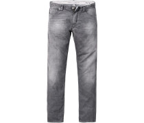 Herren Jeans Slim Fit Baumwoll-Strech dunkelgrau