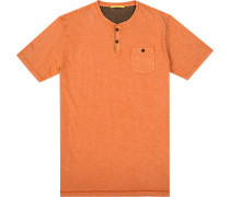 Herren T-Shirt, Baumwolle, orange meliert