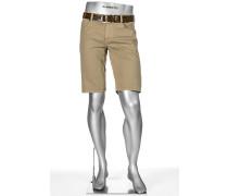Herren Jeans Bermudas Pipe-K, Regular Slim Fit, Baumwolle, beige