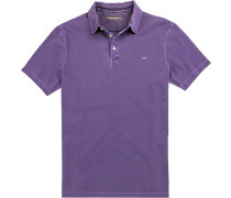Herren Polo-Shirt Baumwoll-Pique violett lila
