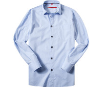 Herren Hemd Classic Fit Baumwoll-Mix hellbau blau