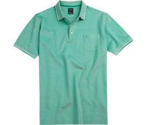 Herren Polo-Shirt, Modern Fit, Baumwoll-Piqué, limone grün