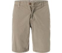 Hose Shorts Baumwolle khaki