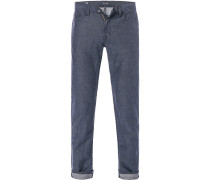 Herren Jeans Baumwolle-Leinen blau